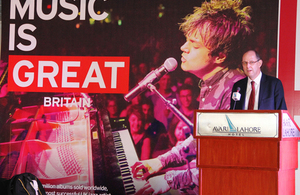 British High Commissioner addressing the closing ceremony