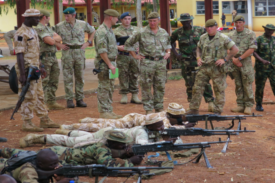 UK military chief visits British training team in Nigeria