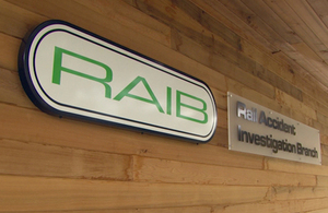 RAIB logo at Cullen House