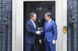UK and Estonia PMs meet at Number 10