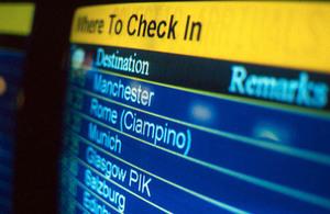 Plane departure board.