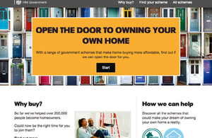 New homebuying website launched by the government