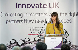 Izabela Kordas of Sunamp Ltd at the 2015 Collaboration Nation event