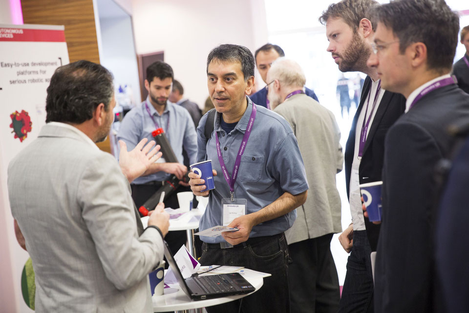 exhibitors networking at the Collaboration Nation technology-inspired event 2015