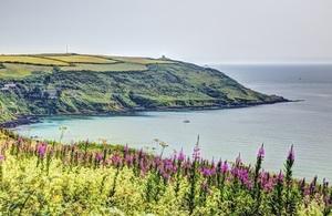 Rame Head Whitsand Bay Cornwall coast