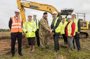 Defence Minister Philip Dunne has officially started construction work on the new £83M military logistics centre in Donnington.