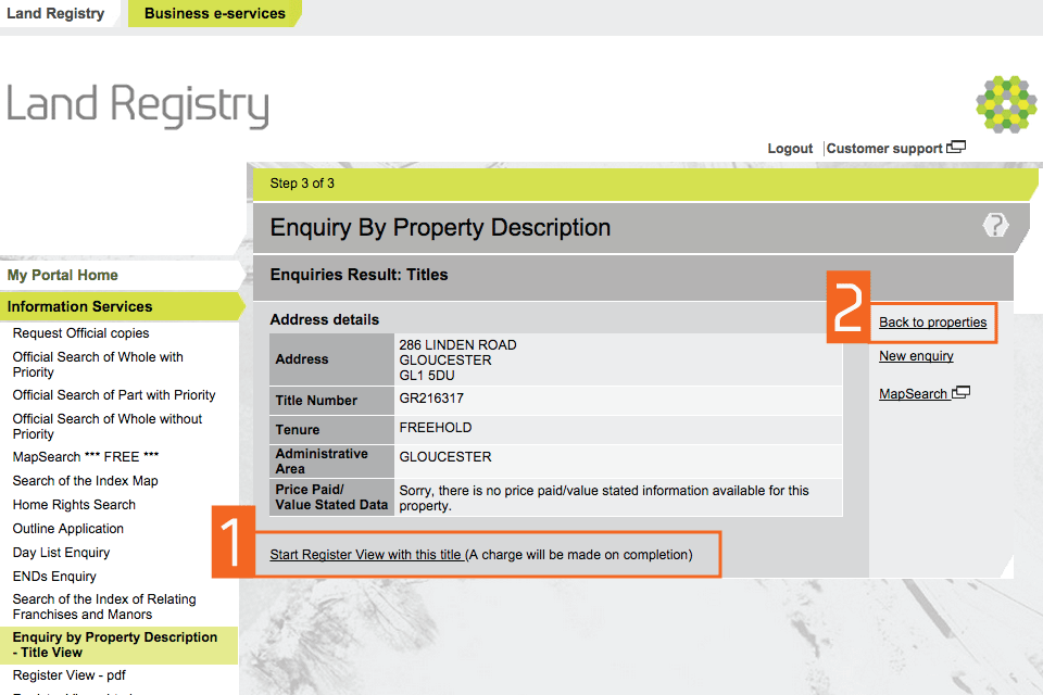 how to read property description