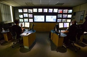 Photo of the CCTV control room at Rugby First