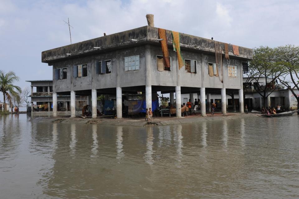 A cyclone shelter in Bangladesh