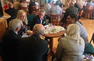 Nicola Blackwood MP in a break out session at the Oxfordshire Veterans Forum with Andrew Smith MP. Photo: Paul Honey. All rights reserved.