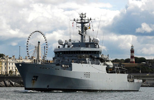 HMS Enterprise returns home to Devonport