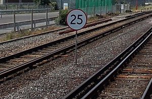 Library image of 25 mph Permanent Speed Restriction board. Creative Commons © Copyright Jaggery