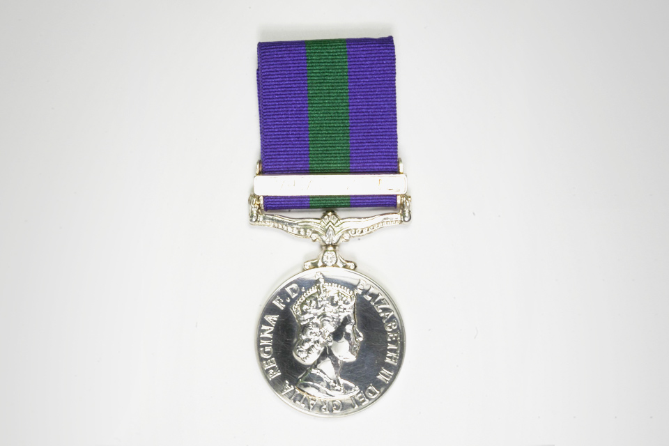 General Service Medal with clasp