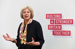 Theresa May at counter-extremism event