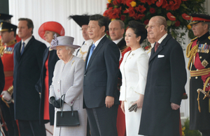 China State visit Royal ceremonial welcome