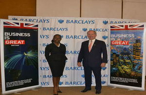 Rt. Hon. Alan Yarrow with Barclays