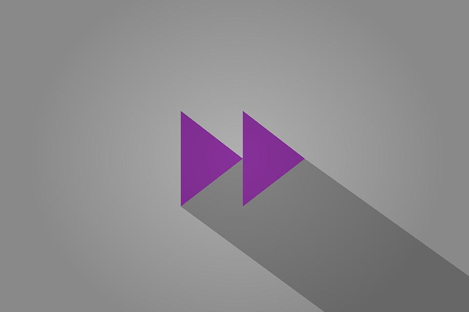 2 triangles, fast forward symbol