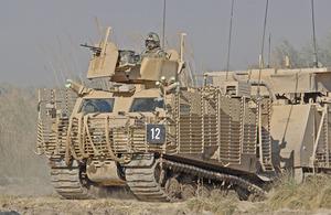 A Warthog all-terrain vehicle