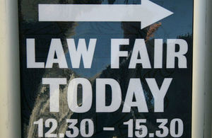 Image of sign outside law fair
