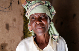 Elizabeth Mukwimba now has solar lighting and electricity in her home thanks to a scheme backed by UK aid. Picture: Russell Watkins/DFID