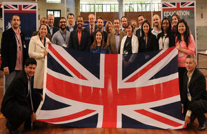 Representatives of the UK universities with the memebrs of the British Embassy team