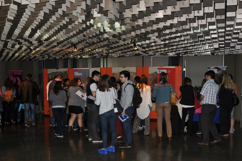 Students were interested in the wide variety of programmes at offer during the Fair
