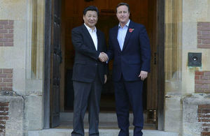 Prime Minister David Cameron and President Xi of China at Chequers