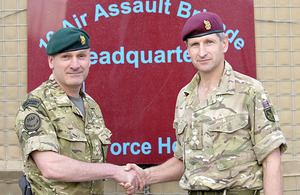 Brigadier James Chiswell (left) and Brigadier Richard Felton