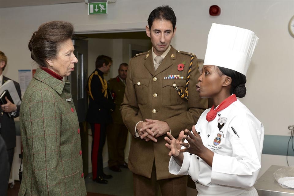 Princess Anne meets Army apprentice chefs