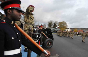 S300 19th regiment royal artillery receive afghanistan medals