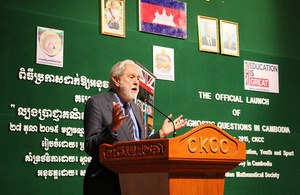 Lord Puttnam, the British Prime Minister's Trade Envoy to Cambodia