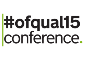 Ofqual conference logo: #ofqual15
