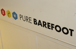 Pure Barefoot sign