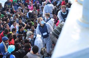 HMS Enterprise migrant rescue