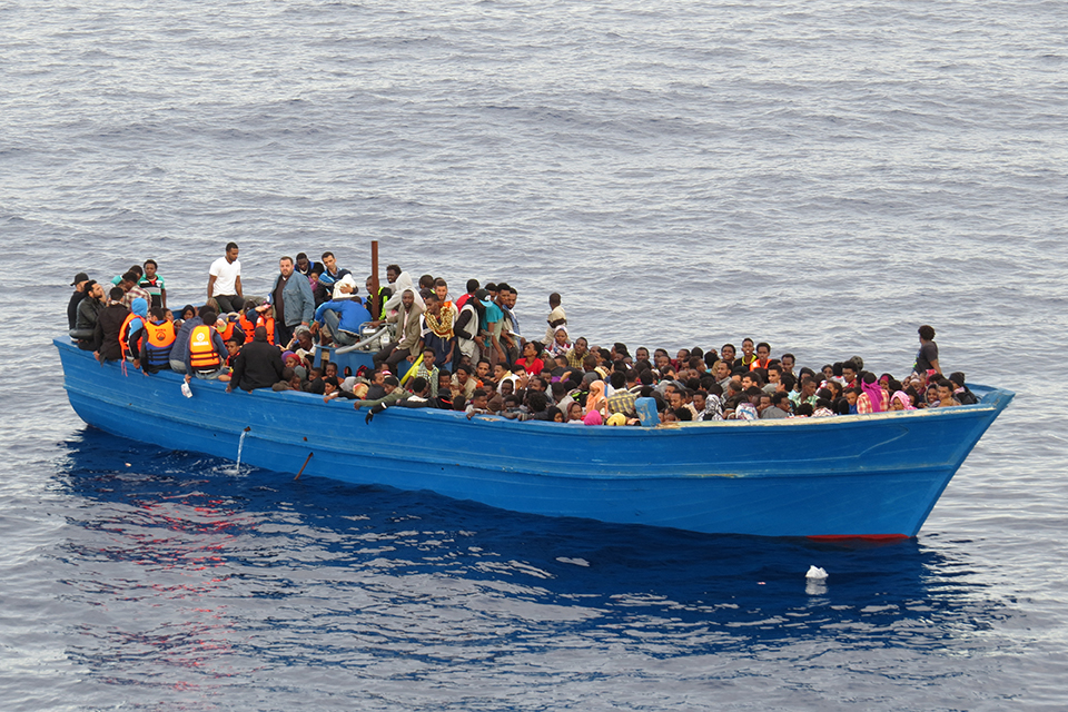 HMS Enterprise rescued 439 migrants