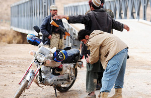Afghan police check point