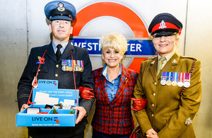 Barbara Windsor joined members of the Armed Forces to support London Poppy Day