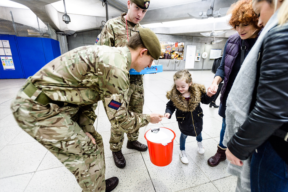 Soldiers lent their support to London Poppy Day