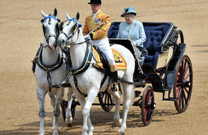 Her Majesty The Queen at Horse Guards Parade