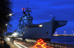 HMS Illustrious in Copenhagen, Denmark