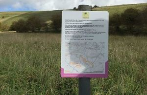 The new signs at Great Cheverell Hill Photo: Greenlaning Association. All rights reserved.