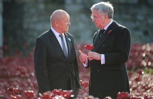 Defence Secretary Michael Fallon and French Minister for Defence Monsieur Le Drian