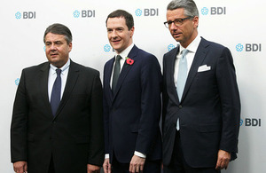 Chancellor with Minister for Economic Affairs and Energy and Vice Chancellor of Germany Sigmar Gabriel