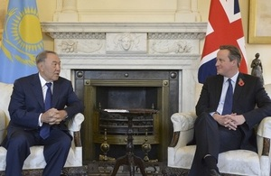 Prime Minister talks with President Nazarbayev of Kazakhstan