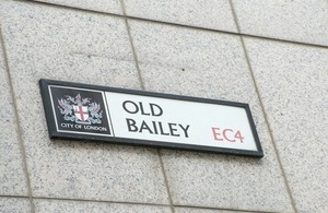 The Old Bailey Road sign
