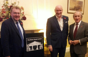David Mundell, Sir Tom Hunter and Sir Jackie Stewart at the Dover House Lecture