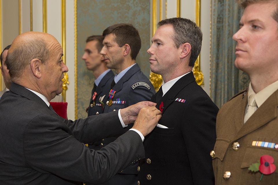 Medal presentation.