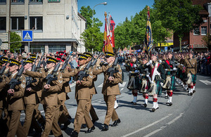 Fallingbostel farewell parade. Dominic King, MOD Crown Copyright.