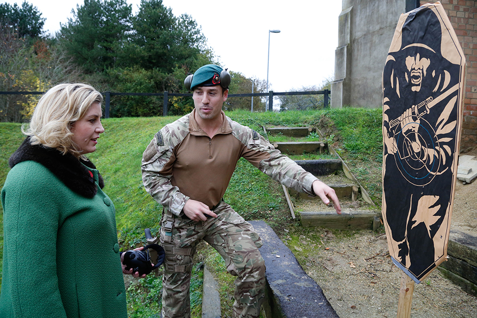 Penny Mordaunt MP, Minister of State for the Armed Forces, has visited 40 Commando Royal Marines based at Norton Manor Camp in Taunton, Somerset.