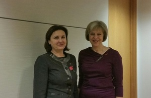 Home Secretary and Deputy Prime Minister Rumiana Bachvarova at their meeting in London on 5 November 2015